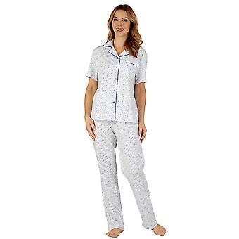 Slenderella PJ3114 ženy ' s bavlna Jersey pyžama sada