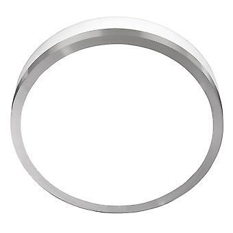 Satin Silver & Opal 2 Light 28cm Flush Bathroom Ceiling Fixture - Searchlight 7039-28SS