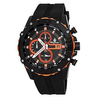 Burgmeister-kvartar med analog Display och silikon armband 535-652 BM, färg: svart