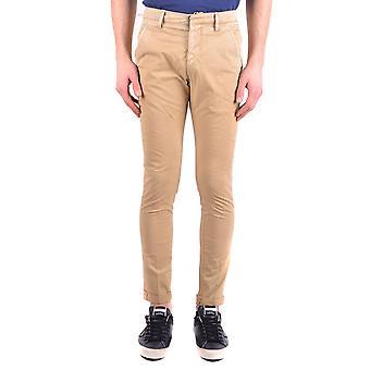 Dondup Ezbc051066 Men's Beige Cotton Pants