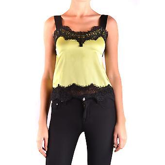 Pinko Ezbc056225 Kvinder's Yellow Silk Top
