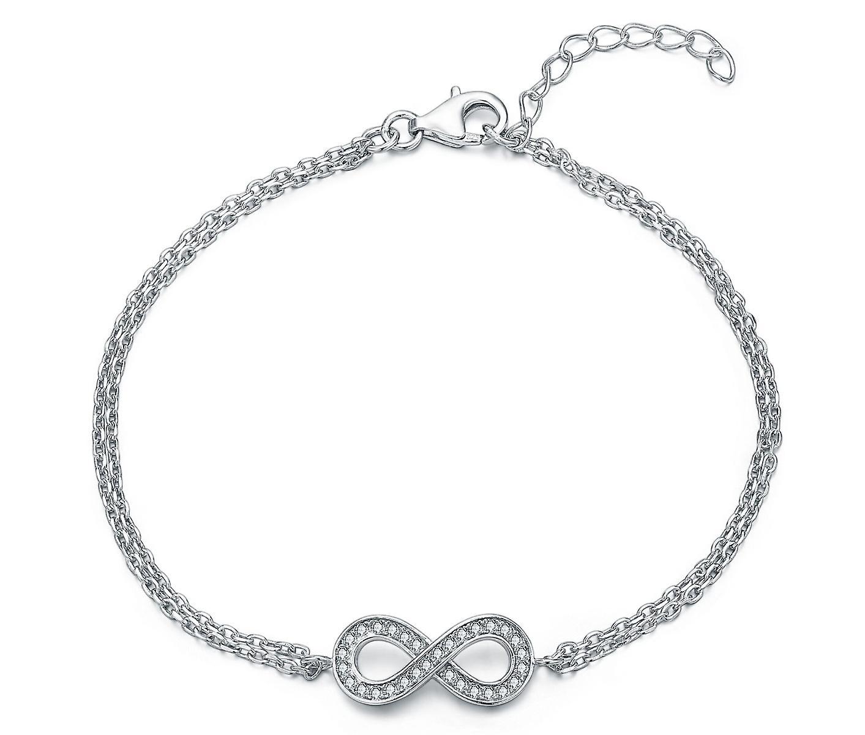 Sterling Silver Bracelet Simple Infinity Style