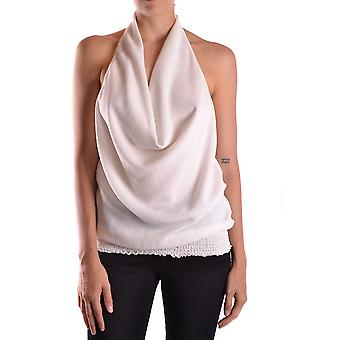 Patrizia Pepe Ezbc135011 Women's White Silk Top