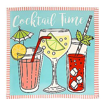 Country Club Family Sized Beach Towel, Cocktail Time