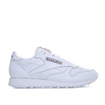 Womens Reebok Classic Leather Trainers In White