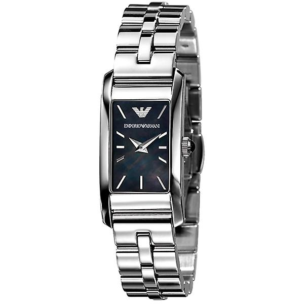 Emporio Armani Ar0747 Ladies Black Mother Of Pearl Dial Watch
