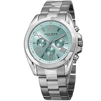 Akribos XXIV kvinnors AK951SSBU multifunktions rost fritt stål Watch