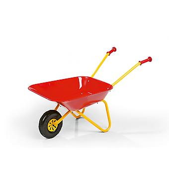 Rolly Metal Wheelbarrow Red