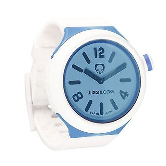 Wize i Ope Blue Bicolor Jumbo Shuttle Watch JB-SH-BI-1