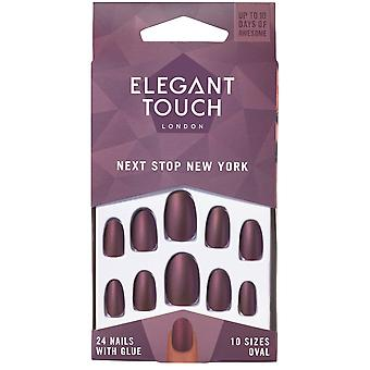 Elegant Touch Flexible Nails - Polish Next Stop New York + Glue (24 Pack)