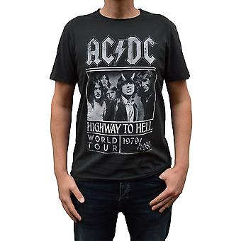 Amplificat AC / DC Highway To Hell Poster Charcoal Crew Neck T-Shirt Amplificat AC / DC Highway To Hell Poster Charcoal Crew Neck T-Shirt