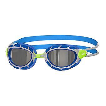 Zoggs simning Goggles Predator spegel i grön/blå/Mirror-6-14yrs