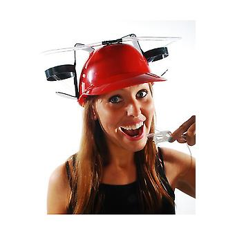Adult  Red helmet for drinks