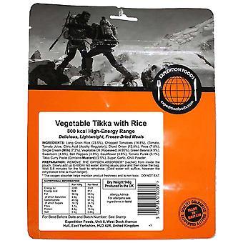 Expedition Foods Black Vegetable Tikka Avec du riz