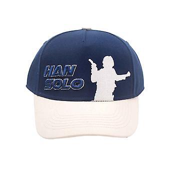 Star Wars Baseball Cap Han Solo Silhouette Rebel Logo new Official Blue Snapback