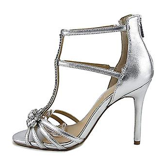 BADGLEY MISCHKA Womens Hazel Leather Open Toe Casual Ankle Strap Sandals