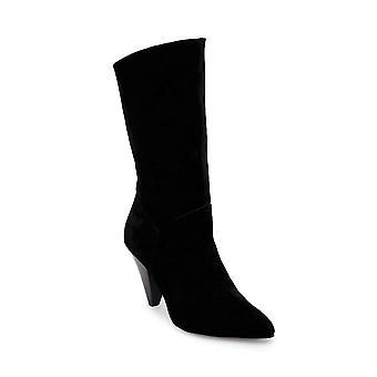 Steve Madden Womens Rein Leather Pointed Toe Mid-Calf Fashion Boots