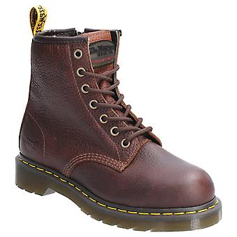 Dr Martens Womens Maple Zip SB Lace Up Safety Boot Teak