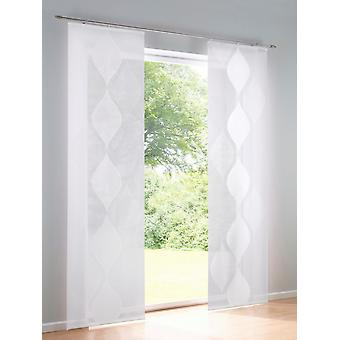 Heine home Set (2) Sliding curtain wool white patterned H/W 225x57 cm
