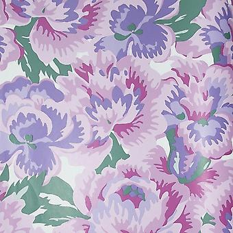 Blue Pink Floral Wallpaper Flowers Purple White Children's Camouflage East West