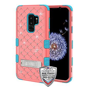 MYBAT Natural Baby Red/Tropical Teal FullStar TUFF Hybrid Case(w/ Stand) for Galaxy S9 Plus
