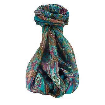 التوت الحرير التقليدي ة وشاح طويل منالي أكوا من الباشمينا والحرير