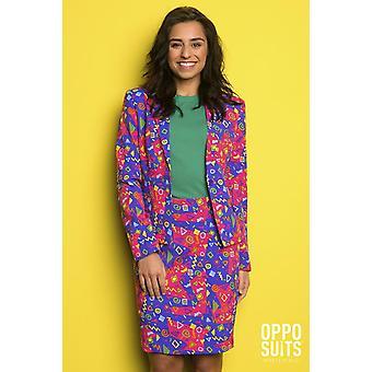 Fresh Princess Bright 80s 90s Women's Costume Opposuit Slimline 2-piece Premium