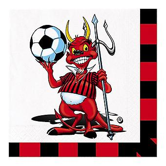 Little Devil Soccer 33cm lunch servetten