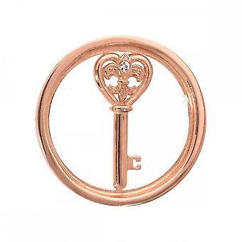Nikki Lissoni Heart Key Small Rose Gold Plated Coin C1033RGS