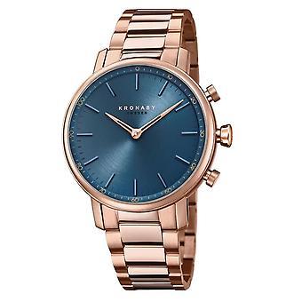 Kronaby S2445-1 Women's Carat Smartwatch Blue Dial