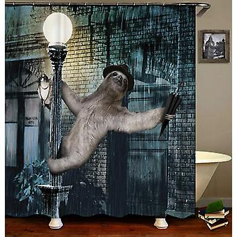 Sloth Singing In The Rain Shower Curtain