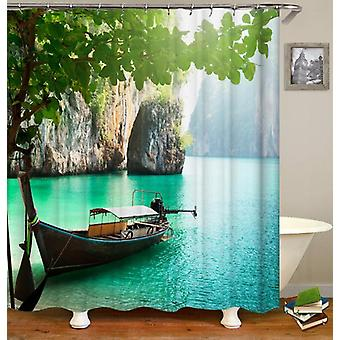 Turquoise Heaven Shower Curtain
