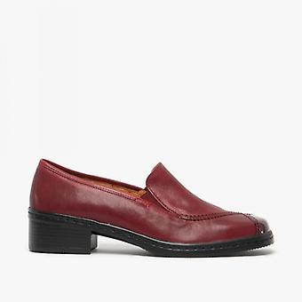 Gabor Frith Ladies Leather Slip On Shoes Dark Red