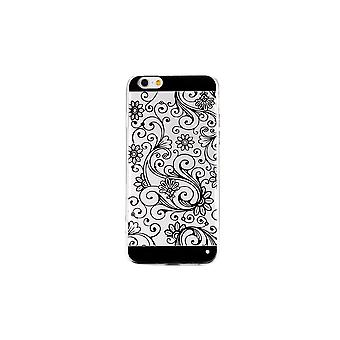 IPhone Shell 6 Black Flowers Pattern