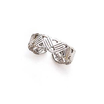 14k White Gold Stripe Toe Ring Jewelry Gifts for Women - 1.7 Grams