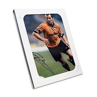 Steve Bull Signed Wolves Photo In Gift Box