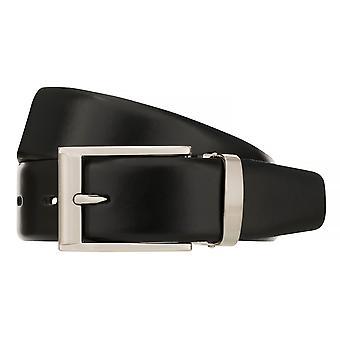 BERND GÖTZ Belt Men's Belt Leather Belt Leather Black 8416