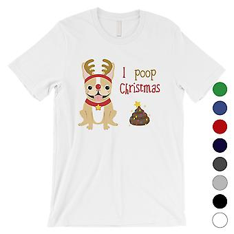 Frenchie Natale poop divertente uomini camicia X-mas regalo