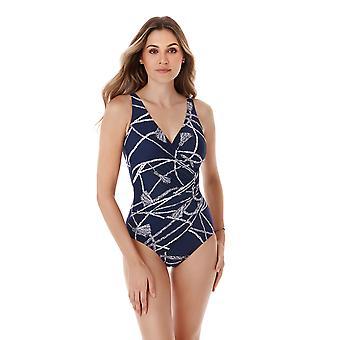 Miraclesuit 6524488-MDN vrouwen ' s volbloed Oceanus Midnight Blue shaping badpak