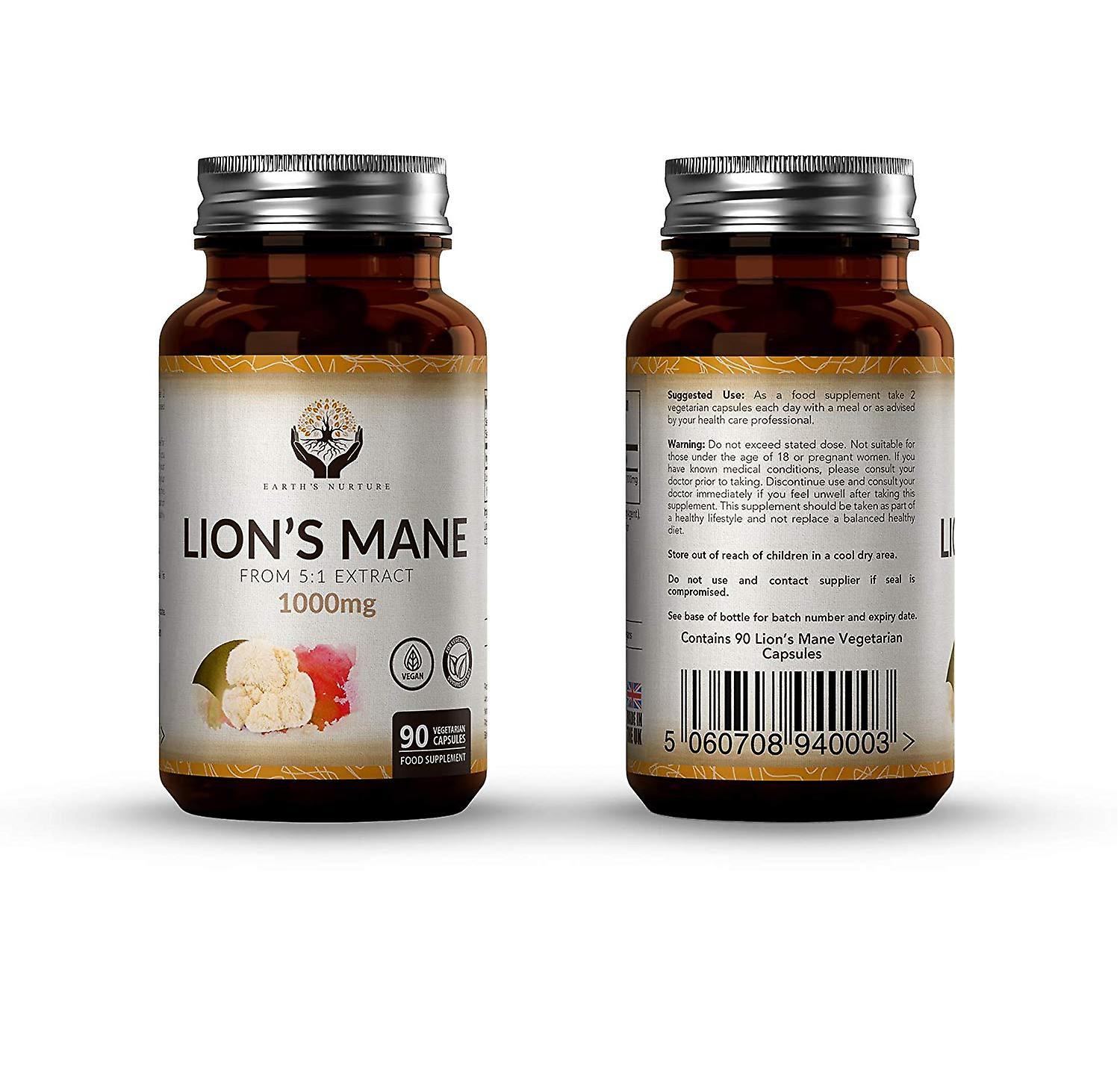 Earth's Nurture Lion's Mane Extract Capsules