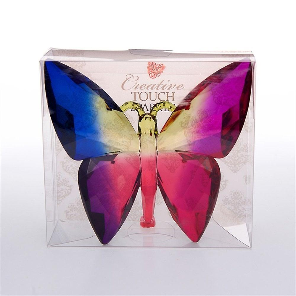 The Sparkle Collection Twilight Coloured Solid Plastic Crystal Effect Butterfly Ornament