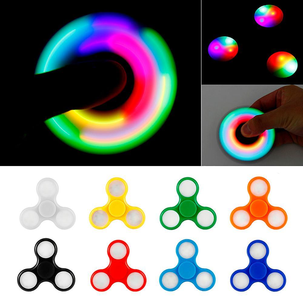 Fidget spinner LED lampor ljus flera färger