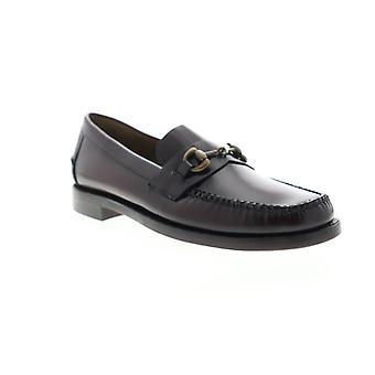 Sebago Classic Joe Citysides  Mens Brown Leather Dress Loafers Shoes