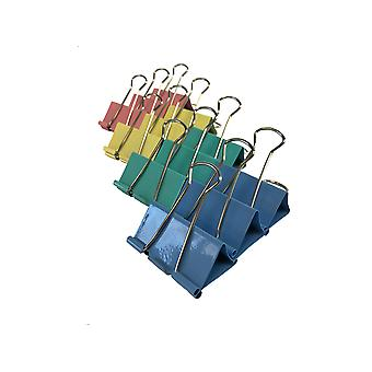 TRIXES12 Para PC Pack de Metal color Foldback Binder Clips 50MM