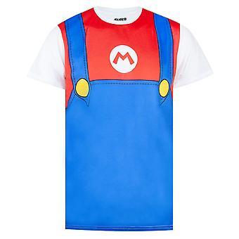 Super Mario Costume Mens T-shirt