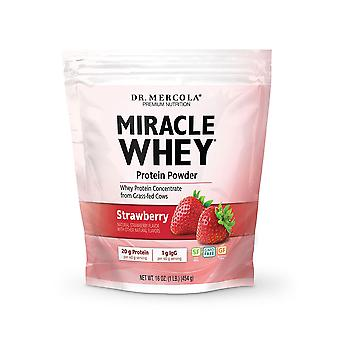 Miracle Whey eiwit m.t.c. poeder aardbei (454g)-Dr Mercola