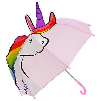 Drizzles Childrens/Kids Unicorn Shaped Umbrella