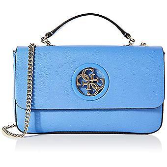 Guess Open Road Cnvrtble Xbody Flap Blue Women's shoulder bag (Blue) 6x17x28 cm (W x H x L)