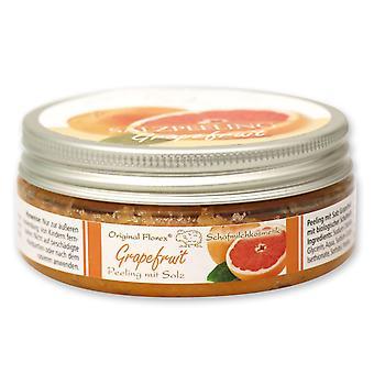 Florex Körper Salz Peeling Grapefruit mit biologischer Schafmilch Seidenweiche Haut Reinigung Pflege 200 ml