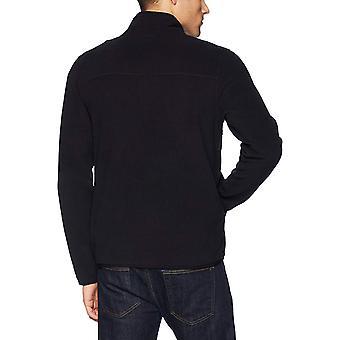 Starter Men's Polar Fleece Snap-Collar Pullover Jacket, Exclusive, Bla...